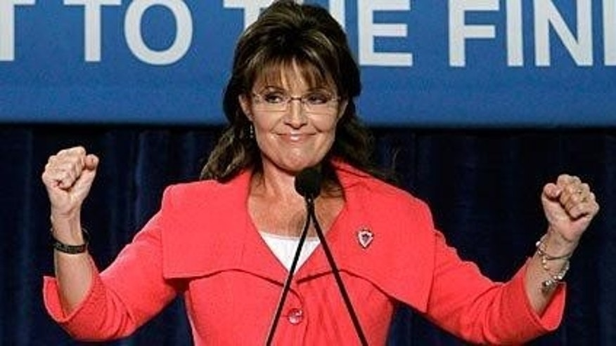Former AK Gov. Sarah Palin campaigns with Senate hopeful Marco Rubio Saturday, October 24. (AP Photo)