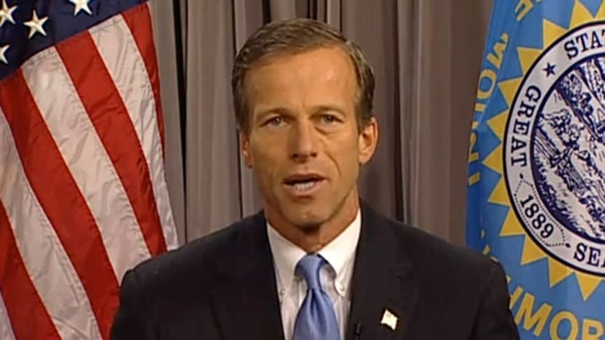 Sen. John Thune is shown delivering the Republicans' weekly radio address Oct. 23. (YouTube)