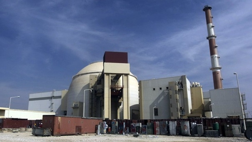 Oct. 26: The reactor building of the Bushehr nuclear power plant in Iran.
