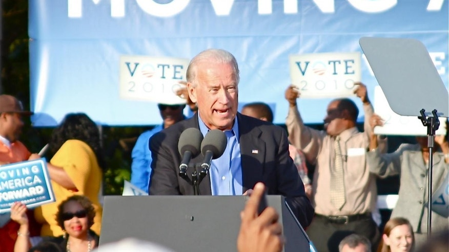 Vice President Biden at Moving America Forward Rally in Philadelphia, PA on Oct 10, 2010 (Fox Photo)