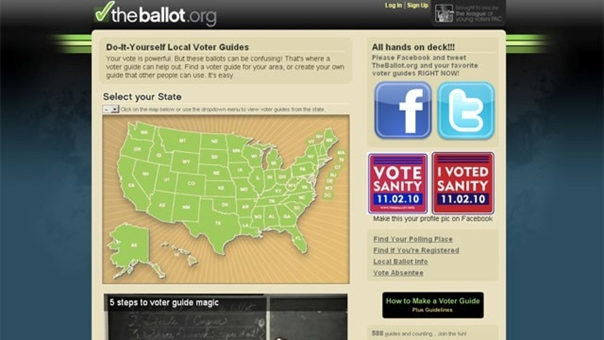 TheBallot.org is a website, under the umbrella of the League of Young Voters PAC, providing endorsed progressive candidates from various groups nationwide.