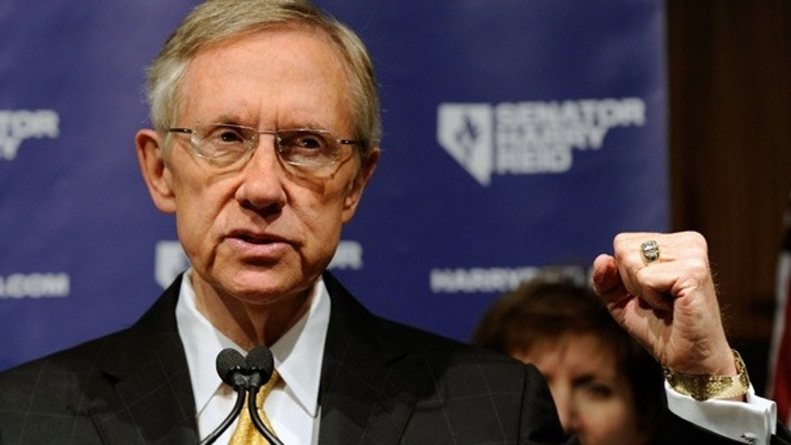 Nov. 3: Senate Majority Leader Harry Reid speaks during a post-election news conference in Las Vegas.