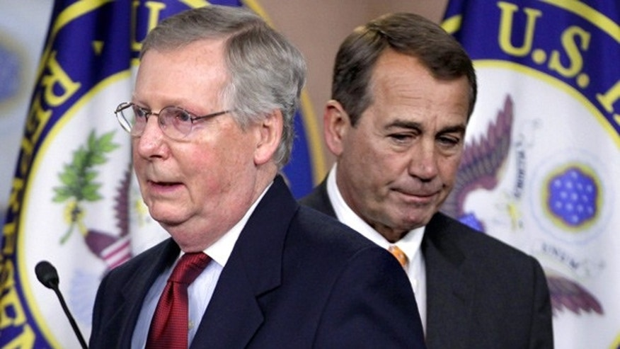 Nov. 3: Senate Minority Leader Mitch McConnell of Ky., left, and House Republican leader John Boehner of Ohio on Capitol Hill.
