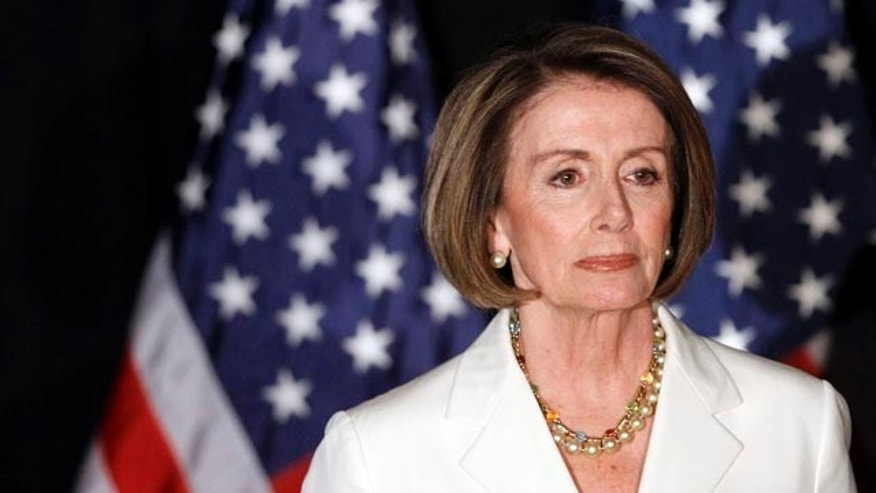 House Speaker Nancy Pelosi of California at an election night party.