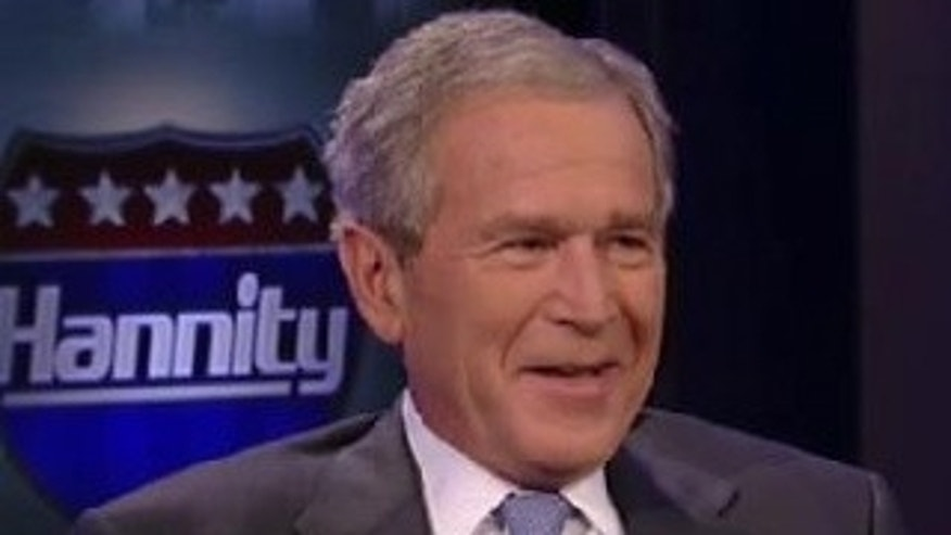 Former President George W. Bush in an interview with Fox News's Sean Hannity November 9, 2010. (FOX News)