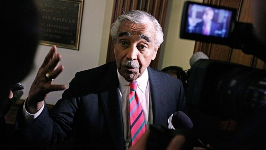 July 22: Rep. Charlie Rangel (D-NY) faces questions from the news media at the U.S. Capitol.