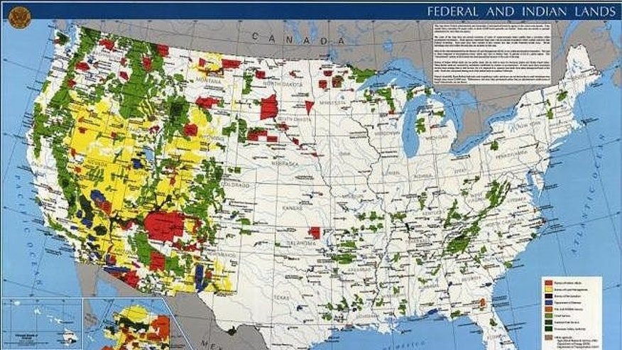 Map of Federal and Indian lands (Image courtesy U.S. Geological Survey)