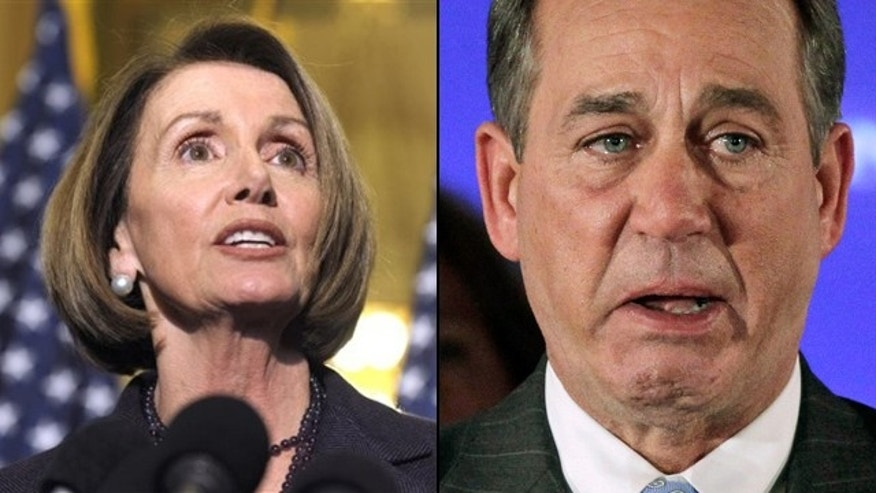 Outgoing House Speaker Nancy Pelosi seemed to belittle incoming Speaker John Boehner's penchant for crying. (AP)