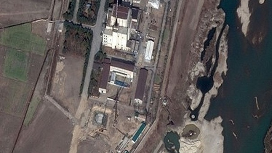 Nov. 4: A DigitalGlobe Satellite image shows construction at the North Korea's Yongbyon Nuclear complex in North Korea.