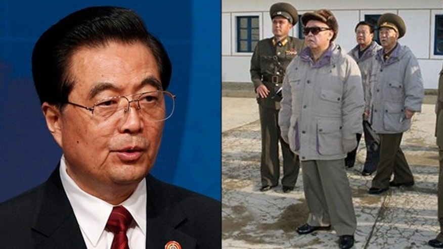 Shown here are Chinese President Hu Jintao, left, and North Korean leader Kim Jong Il. (AP Photos)
