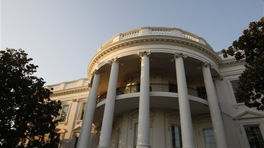 The South Portico of the White House in Washington is seen in the late afternoon after President Barack Obama, not pictured, returned from a trip to Bethesda, Md., Friday, March 6, 2009. (AP Photo/Charles Dharapak)