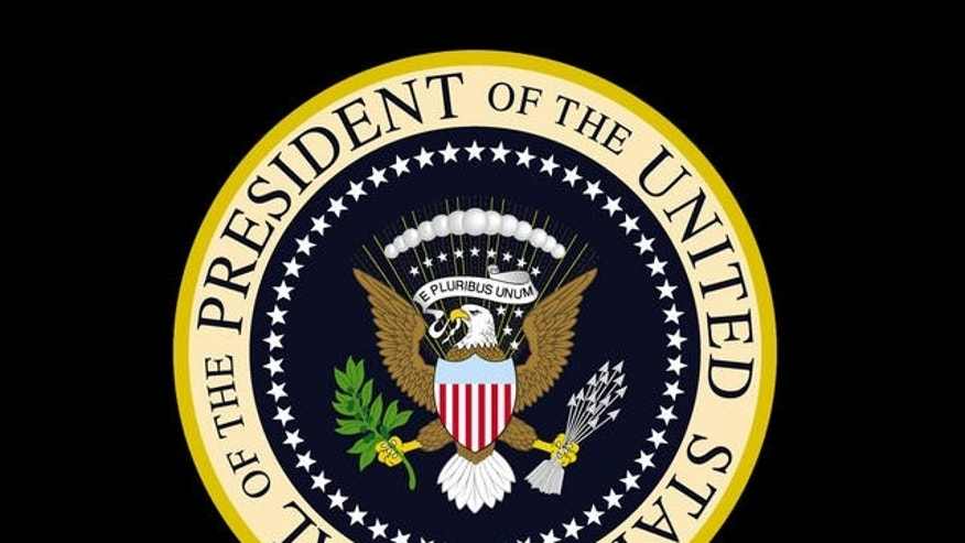 A photograph of the presidential seal. (AP)