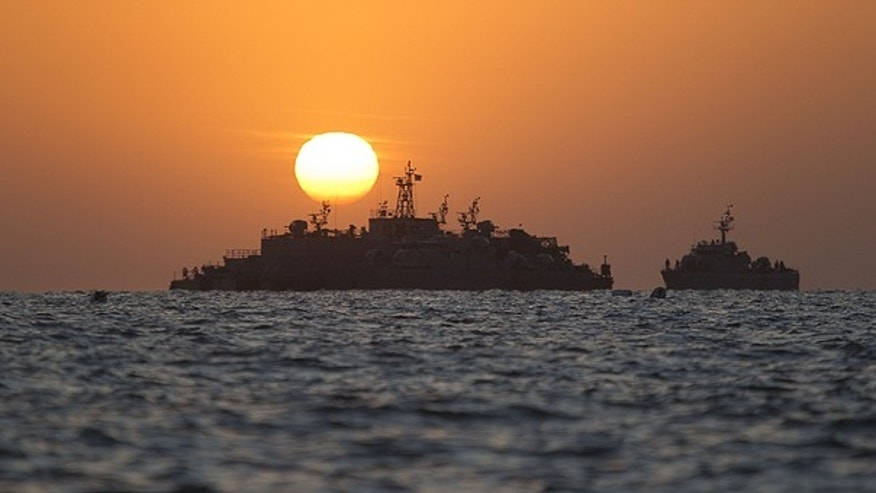 Nov. 28: South Korean ships stage off of the coast of South Korea's Yeonpyeong Island.