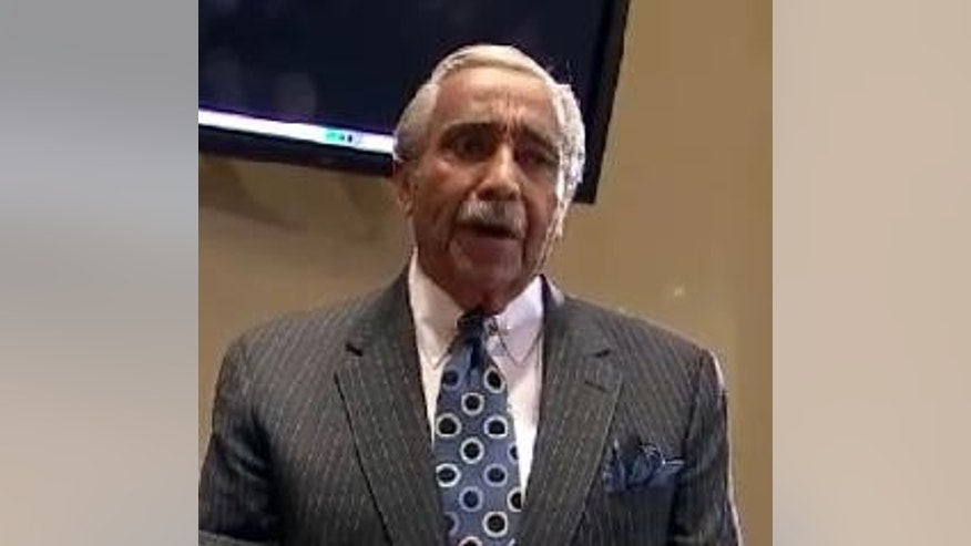 Embattled New York Congressman Charlie Rangel (D) pleads his case at his ethics committee sentencing hearing Thursday. (FOX News image)
