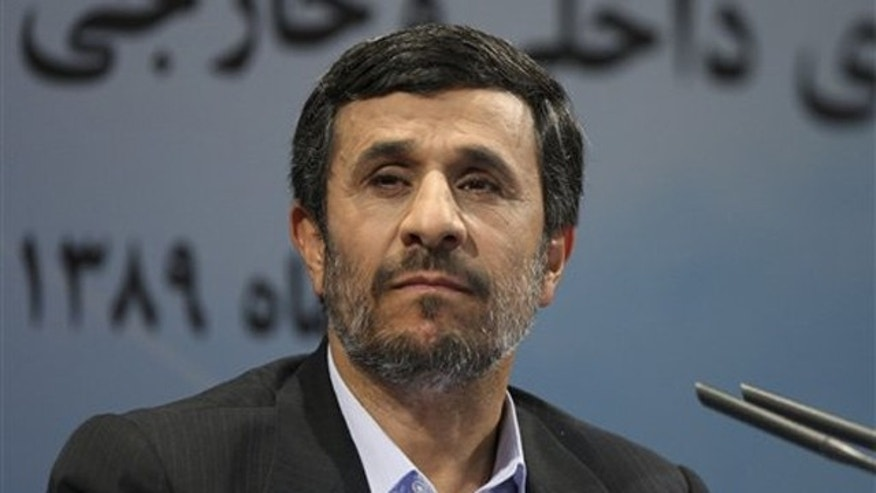 Iranian President Mahmoud Ahmadinejad listens to a question during his press conference in Tehran, Iran, Nov. 29. (AP Photo)