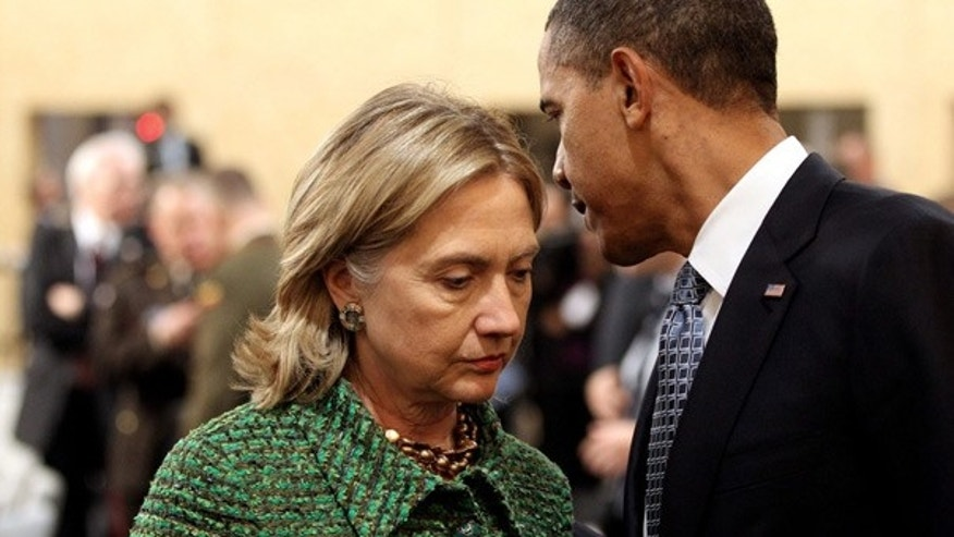 Nov. 19:  President Obama and Secretary of State Hillary Clinton in Lisbon, Portugal.