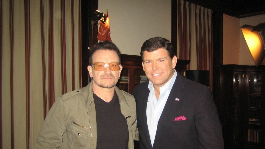 In anticipation of World AIDS Day, U2 frontman Bono met with Fox News' Bret Baier at President George W. Bush's library in Dallas to discuss U.S. achievements reducing the worldwide scourge of AIDS.