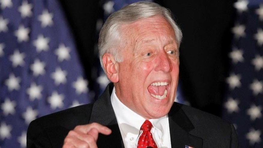 Nov. 2: House Majority Leader Rep. Steny Hoyer of Md., speaks to supporters at an election night party in Washington.