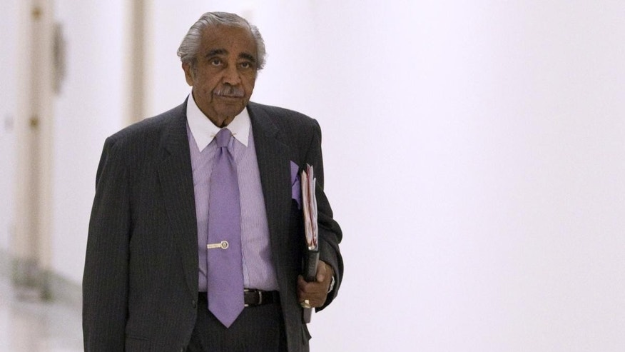 Rep. Charles Rangel, D- N.Y.,walks to his office on Capitol Hill office in Washington, Tuesday, Nov. 30, 2010. (AP Photo/Evan Vucci)