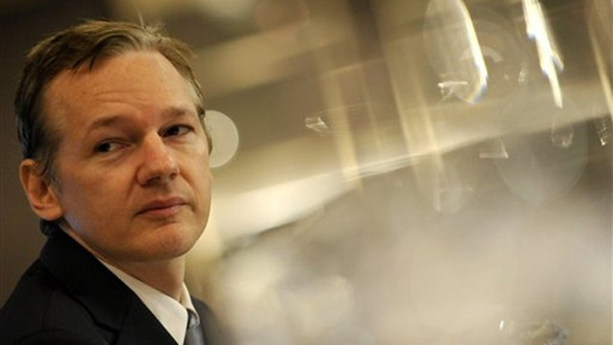 In this Oct. 23 file photo, WikiLeaks founder Julian Assange speaks during a press conference in London. (AP Photo)