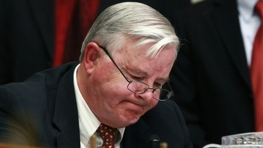 June 17: Rep. Joe Barton asks a question at a House Energy and Commerce Committee hearing on the BP oil spill in the Gulf of Mexico, on Capitol Hill.