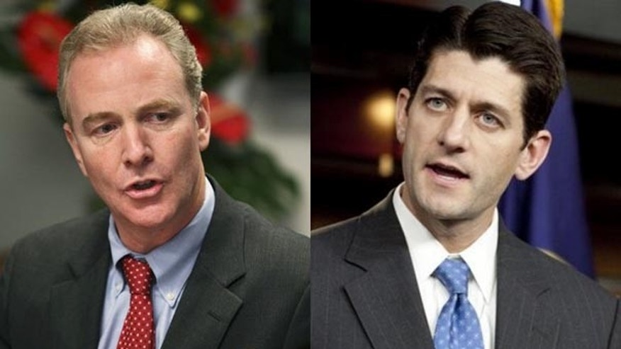 Reps. Chris Van Hollen, D-Md., left, and Paul Ryan, R-Wis.