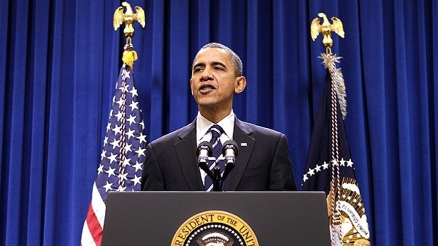 Dec. 6: President Obama speaks after meeting with Democratic congressional leaders on a deal to extend tax cuts.