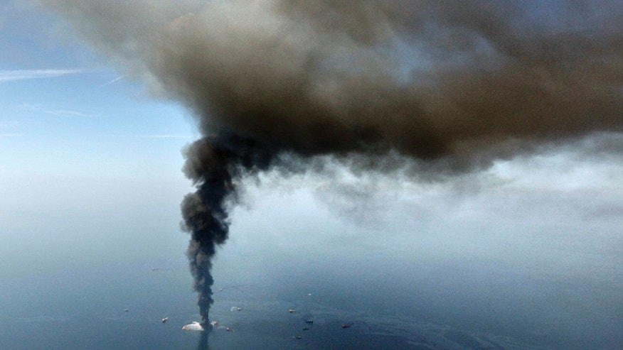 April 21: The Deepwater Horizon oil rig burns in the Gulf of Mexico. The Justice Department sued BP and eight other companies on Dec. 15 in the Gulf oil spill disaster in an effort to recover billions of dollars from the largest offshore spill in U.S. history.