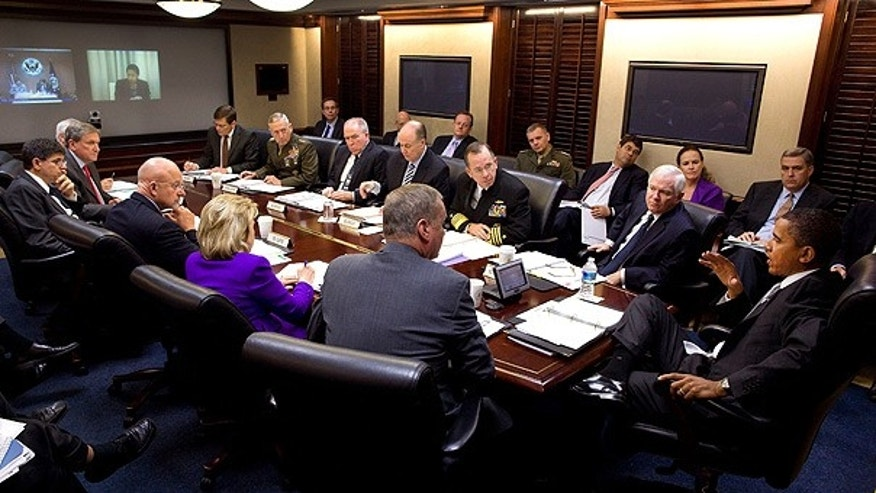 Oct. 20: President Obama meets with his national security team on Afghanistan and Pakistan in the Situation Room.