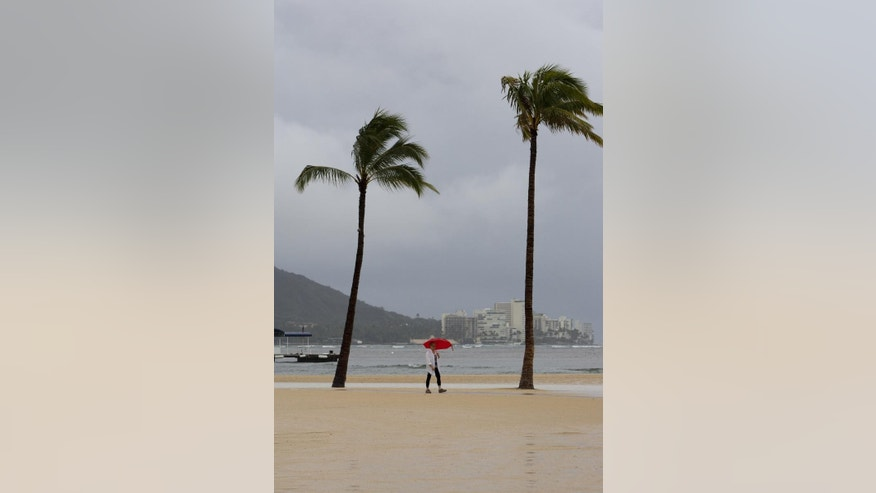 Heavy rains are soaking the Hawaiian islands. (AP Photo/Marco Garcia)