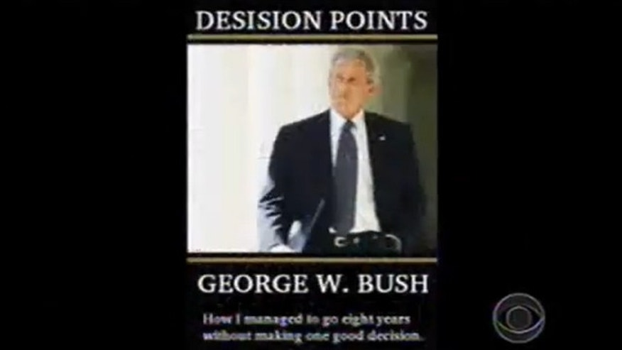 Shown here is the image of a fake cover for former President George W. Bush's recent book.