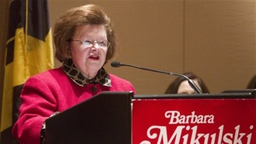 FILE: Sen. Barbara Mikulski, D-Md., appearing at a fundraiser in March, is preparing for a fifth term in the U.S. Senate.