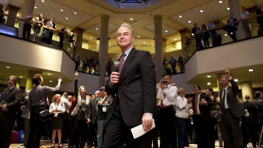FILE: In this Feb. 19 photo, Rep. Tom Price speaks at a rally during the Conservative Political Action Conference during its annual meeting in Washington.