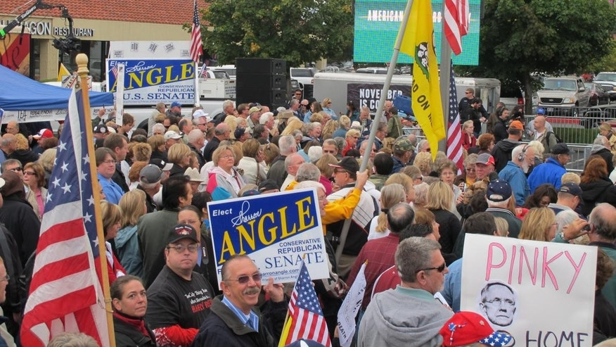 Tea Party Express rally in Reno, Nevada ahead of the 2010 midterm election. (File / FNC Photo)