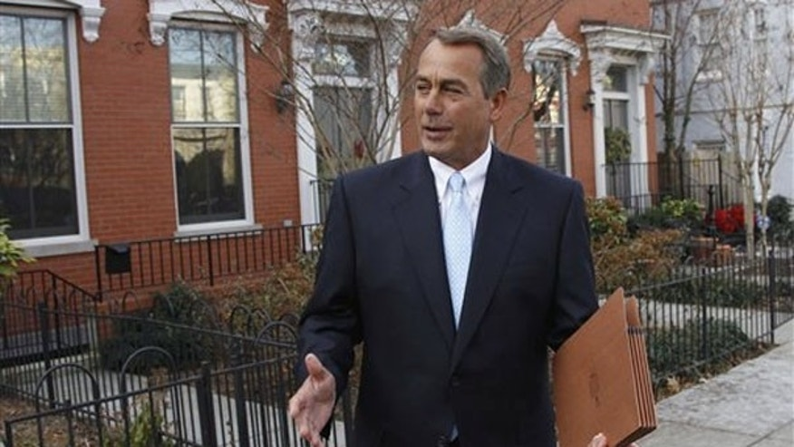 Wednesday: John Boehner enjoys his morning before heading to Congress to become the next House speaker.