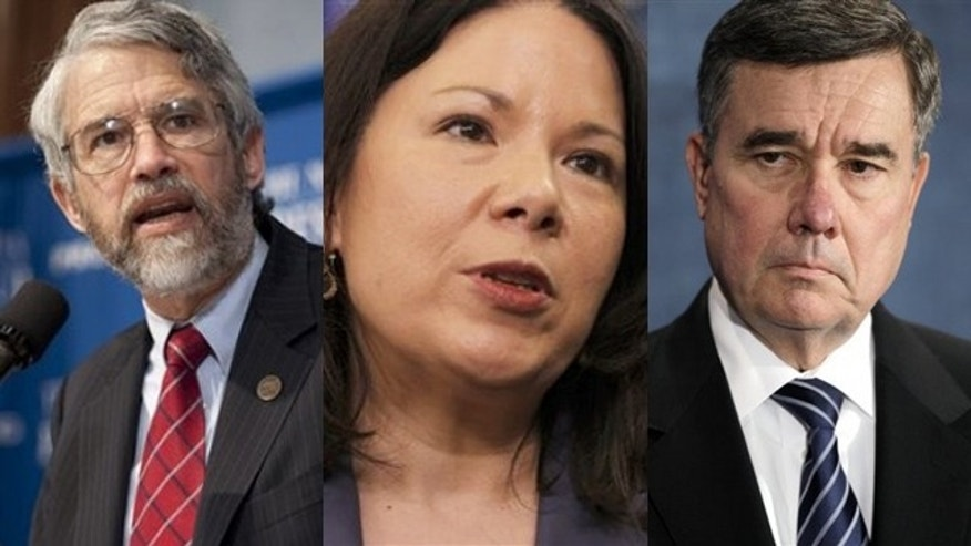 Shown here are John Holdren, left, director of the White House Office of Science and Technology Policy; Nancy-Ann DeParle, center, director of the White House Office of Health Reform; and Gil Kerlikowske, director of the Office of National Drug Control Policy.