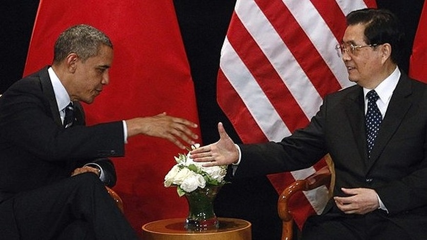 Nov. 11, 2010: President Obama meets with China's President Hu Jintao as part of the G20 Summit in Seoul.