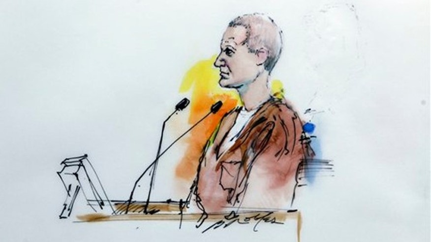 In this artist rendering, Jared Lee Loughner makes his first court appearance at the Sandra Day O'Connor United States Courthouse in Phoenix on Jan. 10.
