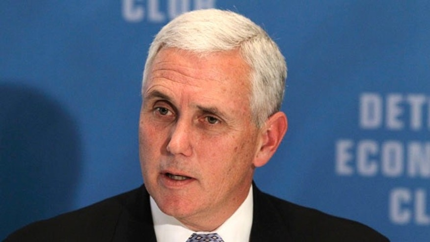 File: Nov. 29, 2010: Then-Rep. Mike Pence, R-Ind., at the Detroit Economic Club in Birmingham, Mich.