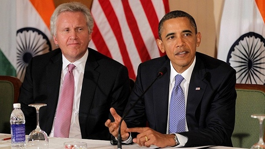 Nov. 6: GE's Jeffrey Immelt and President Obama speak at a roundtable discussion with business leaders in Mumbai, India.