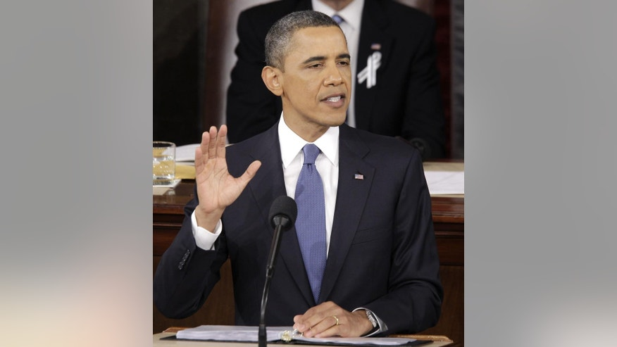 President Barack Obama delivers his State of the Union address at the Capitol in Washington. (AP Photo/Charles Dharapak)