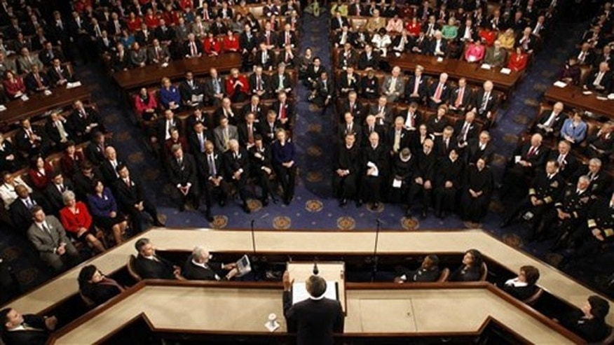 President Obama delivers his State of the Union address at the Capitol in Washington Jan. 25.