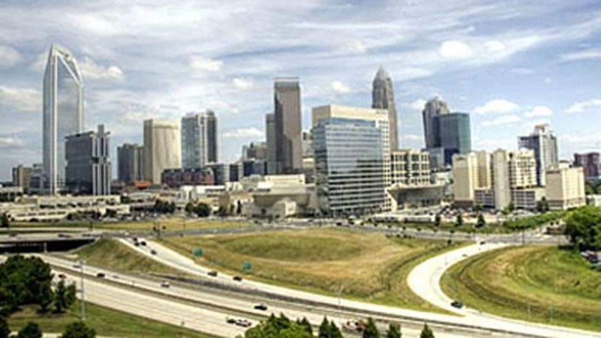 Shown here is the Charlotte, N.C., skyline.