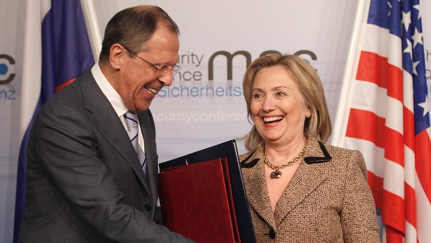 US Secretary of State Hillary Rodham Clinton, shown here Feb. 5, exchanges documents with and Russia's Foreign Minister Sergey Lavrov after finalizing the New START treaty during the Conference on Security Policy in Munich, Germany. Clinton said Feb. 6 the Obama administration has done more for Israel's security than any other U.S. presidency.