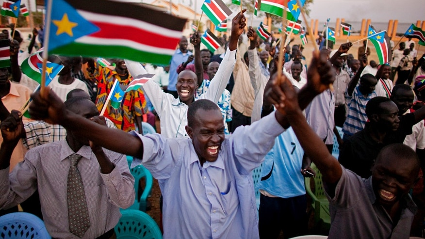 Feb. 7: Southern Sudanese celebrate the formal announcement of referendum results in the southern capital of Juba. Referendum officials indicated that more than 98 percent of all voters cast ballots in favor of southern independence.