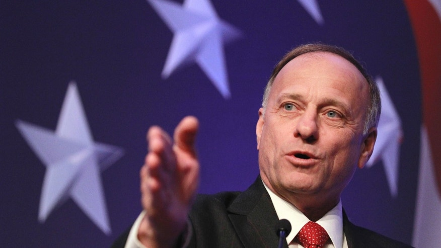 Rep. Steve King, R-Iowa addresses the Conservative Political Action Conference (CPAC) in Washington, Thursday, Feb. 10, 2011. (AP)