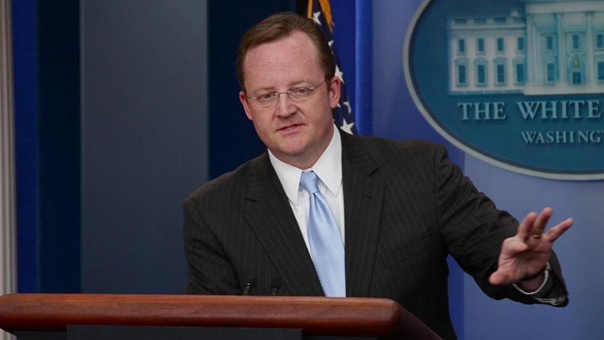 White House Press Secretary Robert Gibbs delivers his daily briefing Friday. (Fox News Photo)