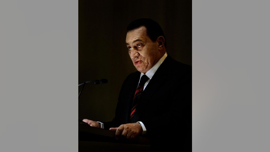 Former Egyptian President Hosni Mubarak  (File AP Photo/Manish Swarup)
