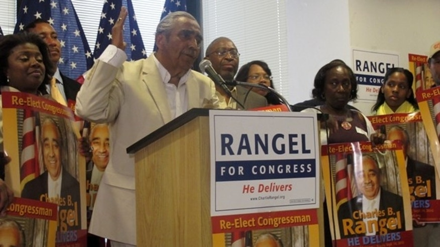 Rep. Charlie Rangel, D-New York, speaks to constituents in 2010 / AP