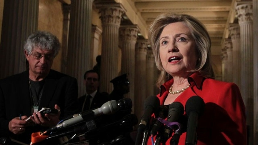 Feb. 14: Secretary of State Hillary Clinton speaks with reporters about Egypt and protests in Iran on Capitol Hill. Clinton will reportedly name Retired diplomat Marc Grossman will be named the next special envoy to Pakistan and Afghanistan.